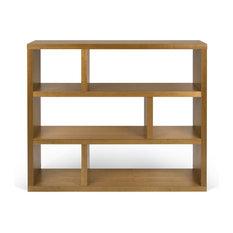 Tema Dublin Low Wood Shelving Walnut Unit Bookcase