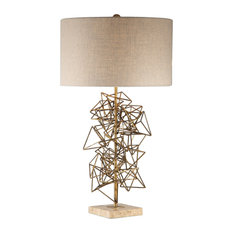 Uttermost Vasaya Abstract Gold Table Lamp