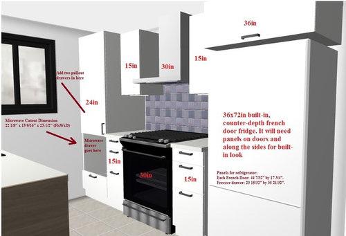 Is My Ikea Sektion Kitchen Layout Too, Ikea Refrigerator Cabinet