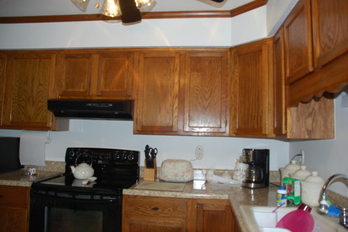 Should I put molding above my kitchen Cabinets