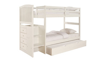 Powell Angelica Twin Bunk Bed with Trundle