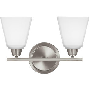 Seagull Lighting 4413002-962 Brushed Nickel Parkfield Wall Bath Fixture