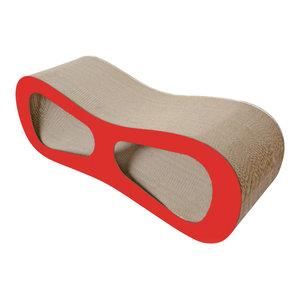 Modiche Ultra Premium Modern Designer Lounger Cat Scratcher, Red