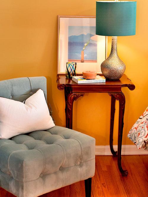 Orange Bedroom Design Ideas Renovations Photos With