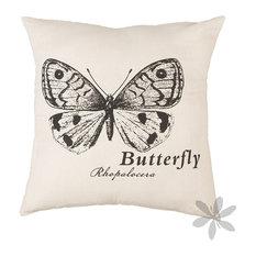 "- Cojín cuadrado ""BUTTERFLY"" - Cojines decorativos"