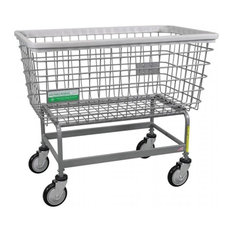 R&B Wire Products 201H-ANTI Antimicrobial Mega Capacity Big Dog Laundry Cart