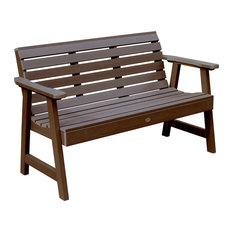 Weatherly Garden Bench, Weathered Acorn, 5'
