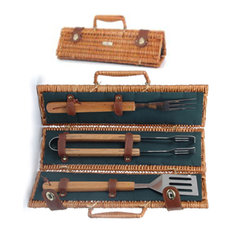 Picnic & Beyond - Picnic and Beyond Willow BBQ Basket - Grill Tools & Accessories