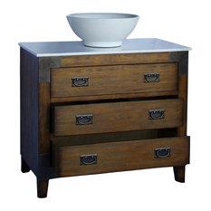Chans Furniture Akira Vanity With Vessel Sink 36 Bathroom Vanities And