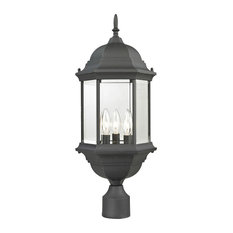Spring Lake 3 Light Post Light or Accessories in Matte Textured Black