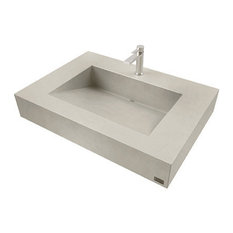 "30"" ADA Floating Concrete Ramp Sink, Concrete"