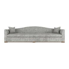 Horatio 10' Crushed Velvet Sofa Silver Streak Classic Depth