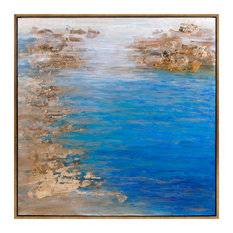 Cobalt Tenor Framed Oil Painting, Gold