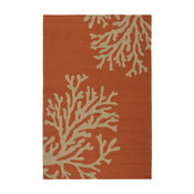 """Jaipur Living Bough Out Indoor/Outdoor Floral Orange/Taupe Area Rug, 5'x7'6"""""""