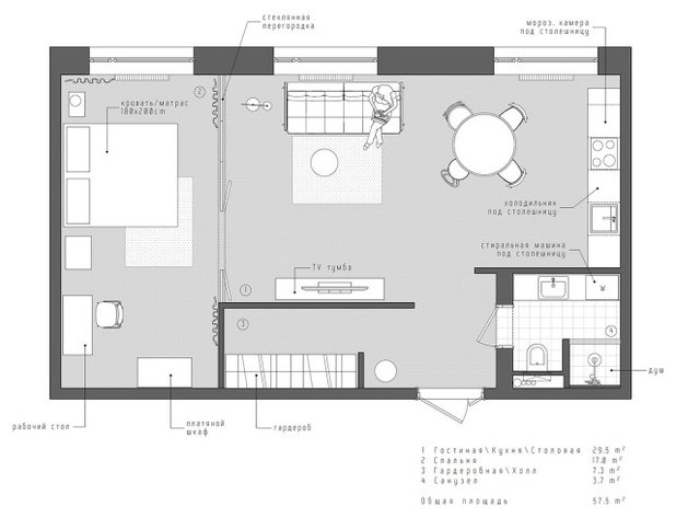 План этажа by INT2architecture