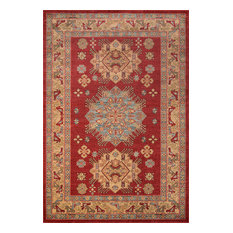 "Ghazni Polypropylene Rug, Red, 5'3""x7'6"""
