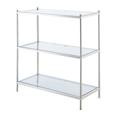 Convenience Concepts Royal Crest 3 Tier Bookcase In Chrome