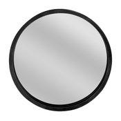 Round Wooden Wall Mirror, Black