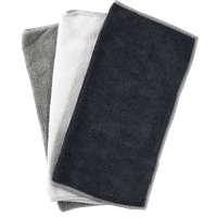 Black, White, and Gray Microfiber Cleaning Cloth, Set of 10