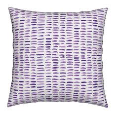 Geometric Watercolor Drawn Paint Grid Lines Throw Pillow Velvet
