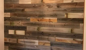 Carol's Office in Plymouth, MN - Barn wood accent wall