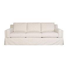 Vanguard Furniture Neema Oyster Ambrose Waterfall Skirt Sofa Sofas