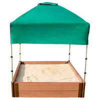"""Two Inch Series 4ft.x4ft.x11"""" Composite Square Sandbox Kit With Canopy/Cover"""