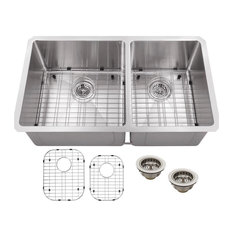 Stainless Steel 16-Gauge Radius 60/40 Kitchen Sink