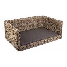 Luxury Rattan Dog Sofa Bed, Large