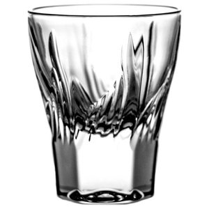 Lead Crystal Vodka Shot Glasses With Flame Cut, Set of 6