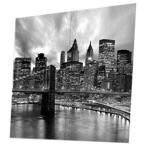 Citta' Manhattan Black 4-Piece Modern Wall Art Canvas, 160x160 cm