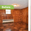 Knotty to Nice: Painted Wood Paneling Lightens a Room