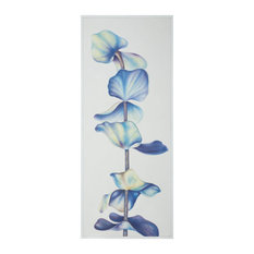 """GuildMaster 1617028 60"""" by 24"""" Framed Hand Painted Botanical Wall - White"""