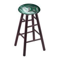 Maple Bar Stool Dark Cherry Finish With Hawaii Seat 30-inch