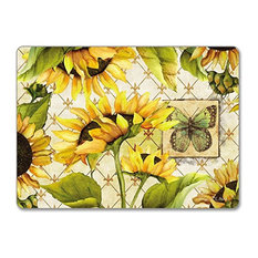 CounterArt Hardboard Placemat, Sunflowers in Bloom, Set of 2