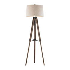 Worton Close - One Light Floor Lamp  Oil Rubbed Bronze/Walnut Finish with Louis