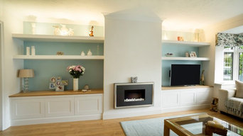 Built in Alcove furniture with Floating shelves