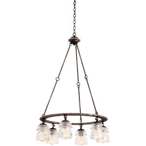 Brierfield Chandelier, Antique Copper, 6-Light