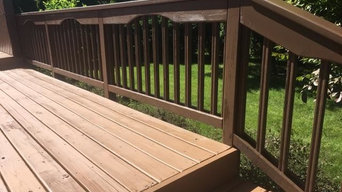 PPG ProLuxe stain and Benjamin Moore ARBORCOAT Stain-Translucent deck 5 2017