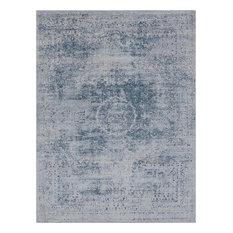 "Wolverhampton Vintage-Style Distressed Blue Area Rug, 7'10""x10'3"" Rectangle"