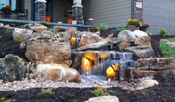 Front Yard Waterfall Installed by Cavahaugh LandEscapes