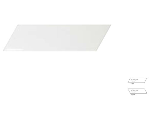 Chevronwall White Matt Left/Right - Tile