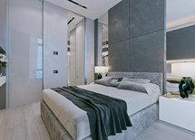 Что за материал на стене за кроватью?
