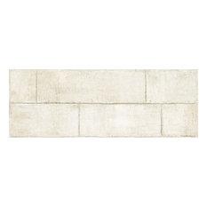 "Agenda Ramie White 17""x47"" Ceramic Wall Tile, Set of 2"