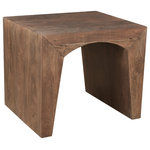 Coast to Coast Imports - Archdale End Table - Artistically shaped, the tapered legs on this End Table span an entire side, and are connected to each other with a graceful arch. Finished in our Natural Elements for a richness that enhances the golden wood tones, this End Table is the perfect companion for your reading chair, or for either side of your sofa, and especially nice when used in conjunction with the matching Cocktail and Console Tables!