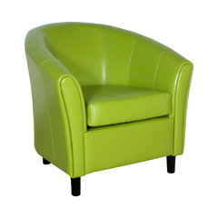 Newport Green Leather Club Chair. Green Leather Wingback Chair  sc 1 st  Houzz & 50 Most Popular Green Leather Wingback Chair for 2018 | Houzz