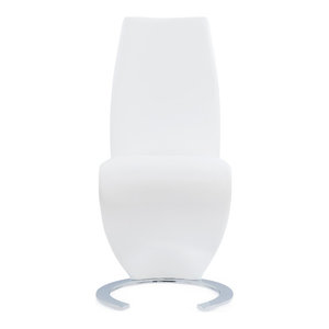 Global Furniture USA Horse Shoe Base White Dining Chair