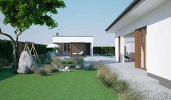 Современный дом, баня, бассейн
