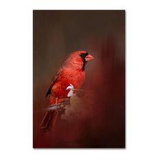 Jai Johnson 'Cardinal In Antique Red' Canvas Art, 32 x 22