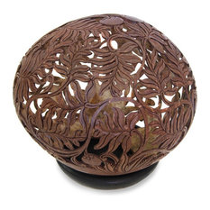 Wild Shrubs Coconut Shell Sculpture
